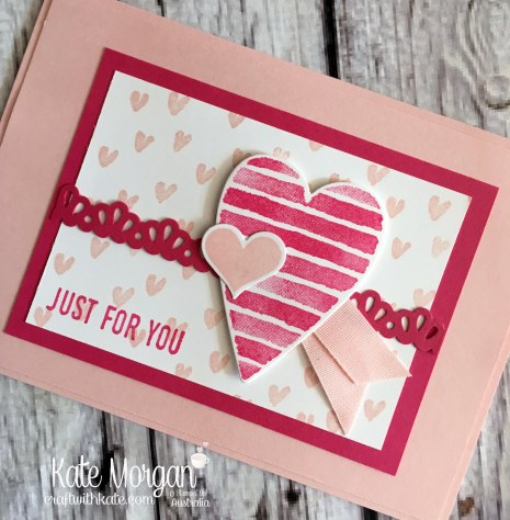 Heart Happiness & Sure Do Love You Bundle Stampin Up Occasions 2018 by Kate Morgan, Craft with Kate Australia.