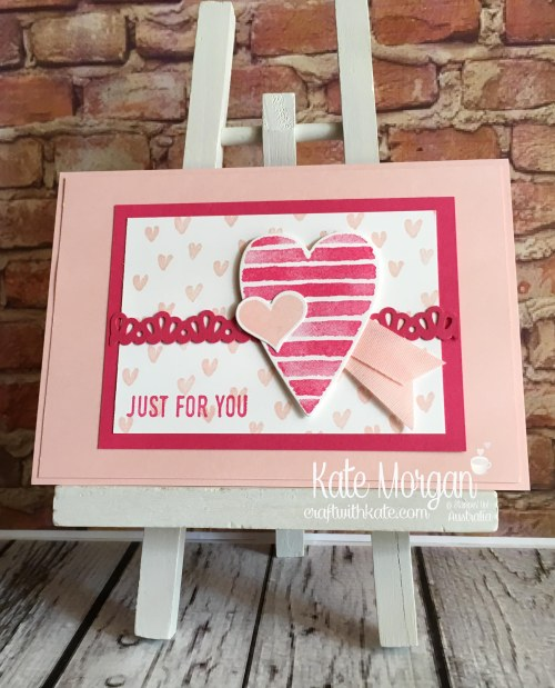 Heart Happiness & Sure Do Love You Bundle Stampin Up Occasions 2018 by Kate Morgan, Craft with Kate, Australia.