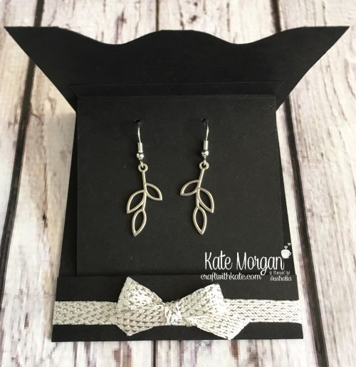 Petal Passion Embellishment earrings for Silver promotion Stampin Up by Kate Morgan, Craft with Kate, Australia
