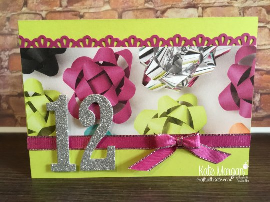 Quick Birthday Cards using Stampin Up Number of Years, Large Numbers, Picture Perfect Party DSP by Kate Morgan, Australia 2018 Occasions.