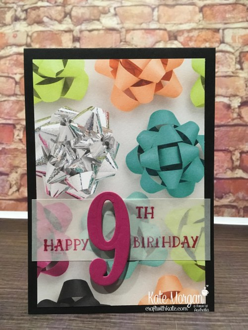Quick Birthday Cards using Stampin Up Number of Years, Large Numbers, Picture Perfect Party DSP by Kate Morgan, Australia 2018 Occasions