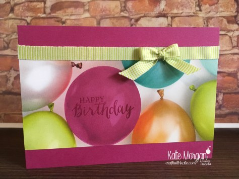 Quick Birthday Cards using Stampin Up Picture Perfect Party DSP, Rose Wonder by Kate Morgan, Australia 2018 Occasions.