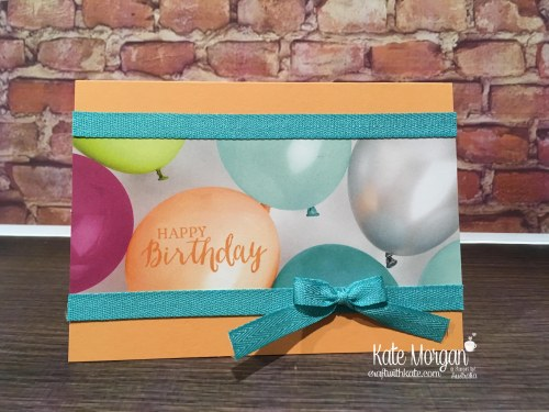 Quick Birthday Cards using Stampin Up Picture Perfect Party DSP, Rose Wonder by Kate Morgan, Australia 2018 Occasions