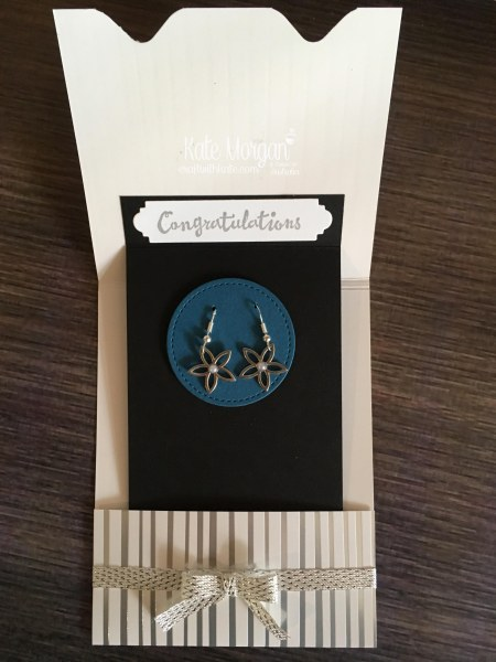 Silver Promotion earrings using Petal Passion Embellishments by Kate Morgan, Stampin Up Australia.