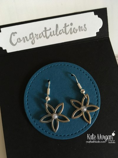 Silver Promotion earrings using Petal Passion Embellishments by Kate Morgan, Stampin Up Australia