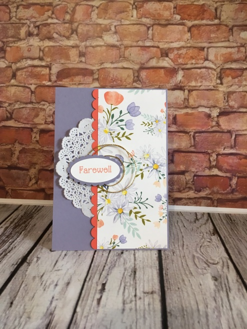Delightful Daisy DSP Stampin Up Farewell card by Kate Morgan Australia.