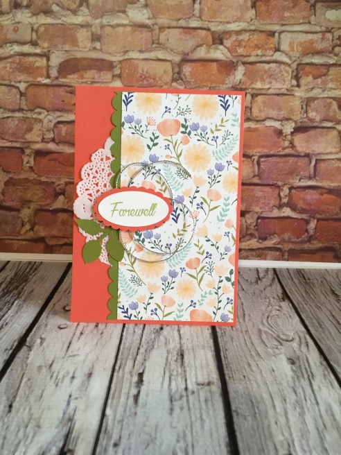 Delightful Daisy DSP Stampin Up Farewell card by Kate Morgan Australia