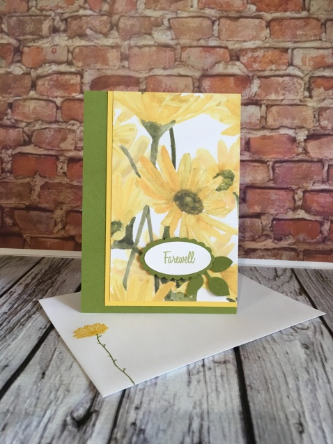 Delightful Daisy DSP Stampin Up Farewell card by Kate Morgan, Australia