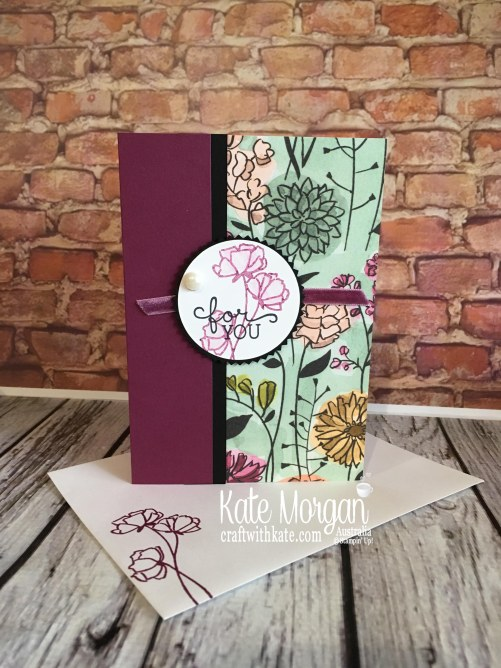 Love What You Do, Birthday Blooms & Share What You Love Specialty DSP Stampin Up by Kate Morgan Australia