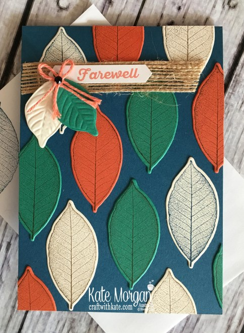 Rooted in Nature Farewell card 2018 Stampin Up Annual catalogue by Kate Morgan Australia