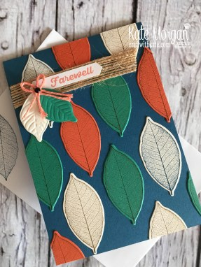 Rooted in Nature Farewell card 2018 Stampin Up Annual catalogue by Kate Morgan, Australia.