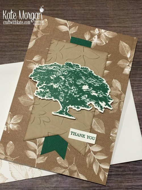 Rooted in Nature, Thank You card, Stampin Up 2018 by Kate Morgan Australia.