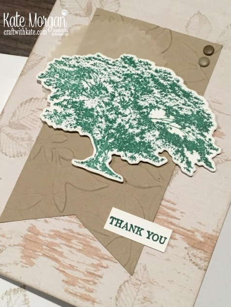 Rooted in Nature Thank You Stampin Up 2018 by Kate Morgan, Australia.