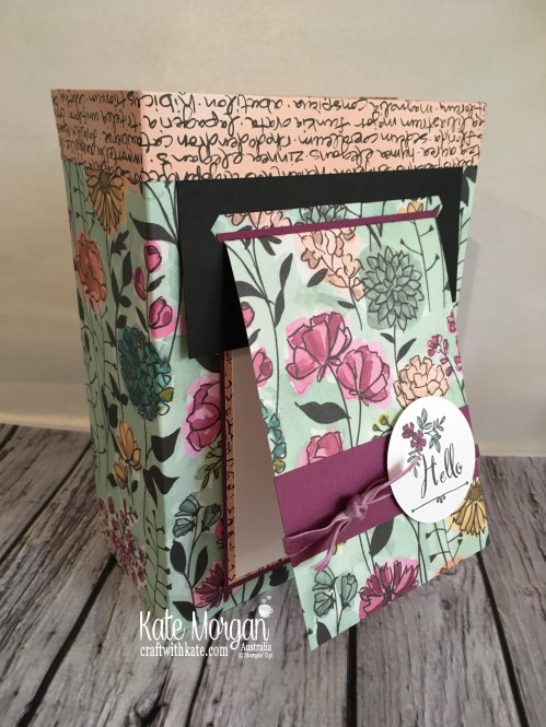 Share What You Love SDSP Gift Box with Card Hanger by Kate Morgan, Australia. Inspired by Rhonda Wade