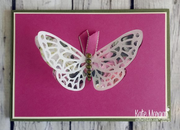 Springtime Impressions, Petal Promenade DSP Stampin Up 2018 Butterfly by Kate Morgan Australia