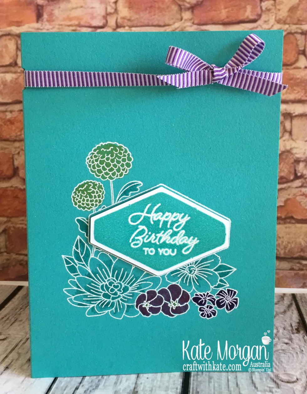 Accented Blooms Birthday card Stampin Up by Kate Morgan, Australia 2018.jpg