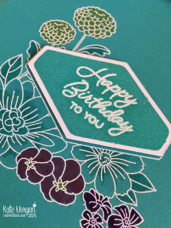 Accented Blooms Birthday card, Stampin Up by Kate Morgan, Australia 2018