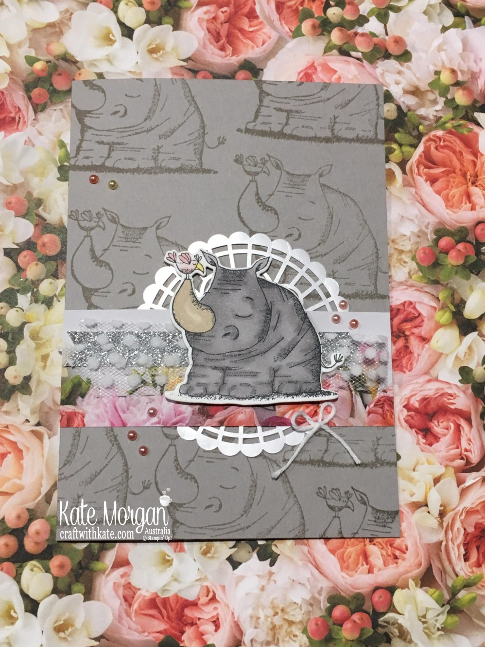 Animal Outings Rhino & Petal Promenade DSP Stampin Up 2018 by Kate Morgan Australia.JPG