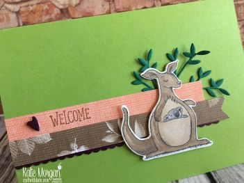 Animal Outings welcome card, Stampin Up by Kate Morgan, Australia 2018.