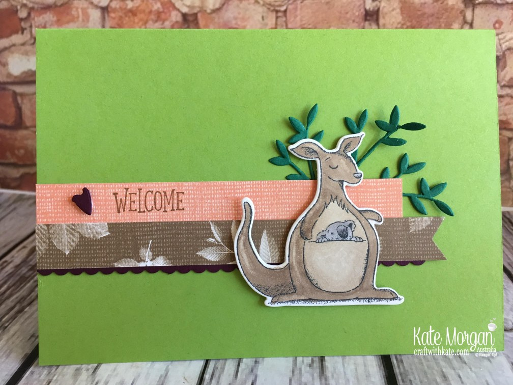 Animal Outings welcome card, Stampin Up by Kate Morgan, Australia, 2018..JPG
