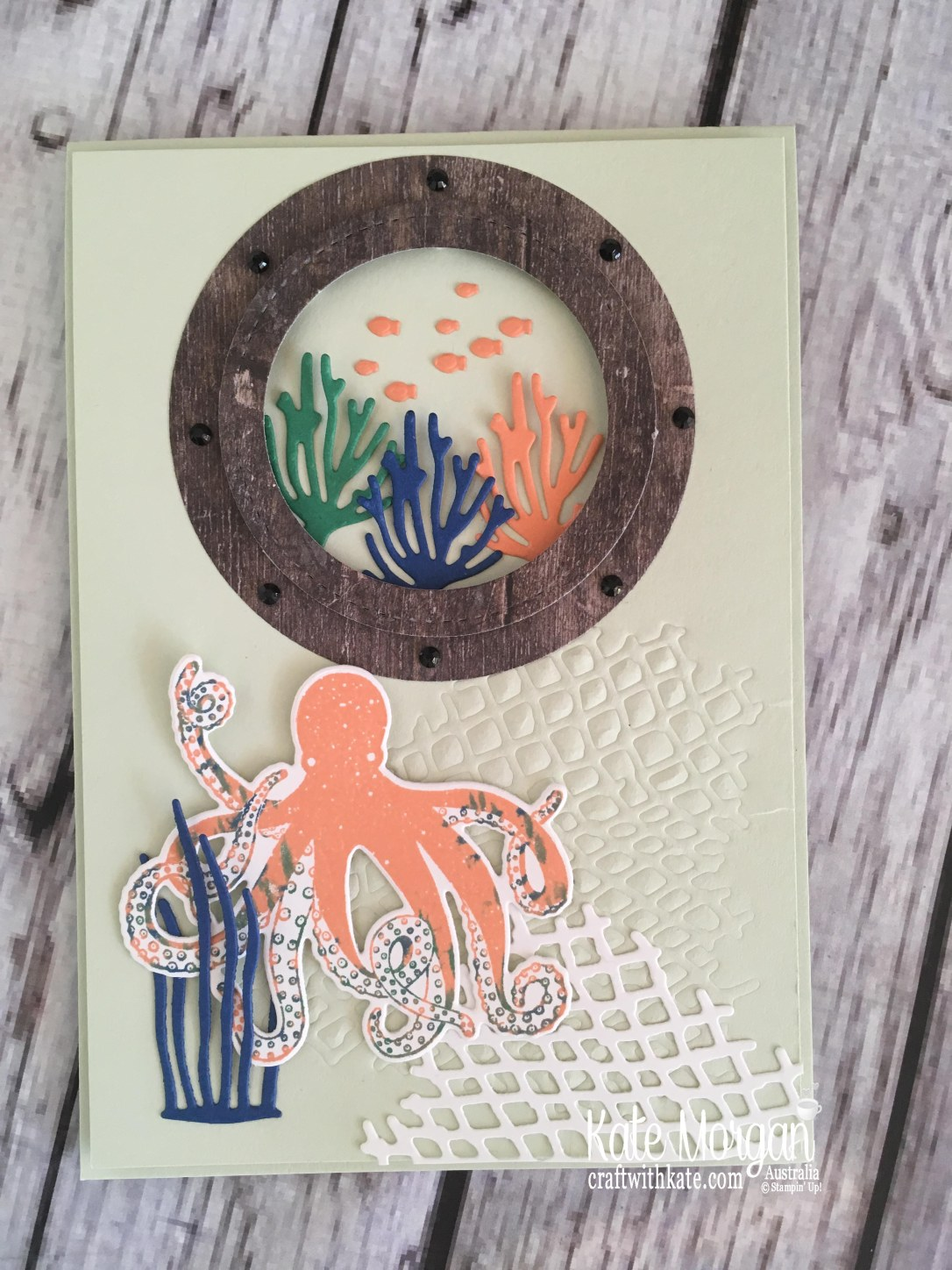 Sea of Textures Under the Sea card Stampin Up by Kate Morgan, Australia 2018.