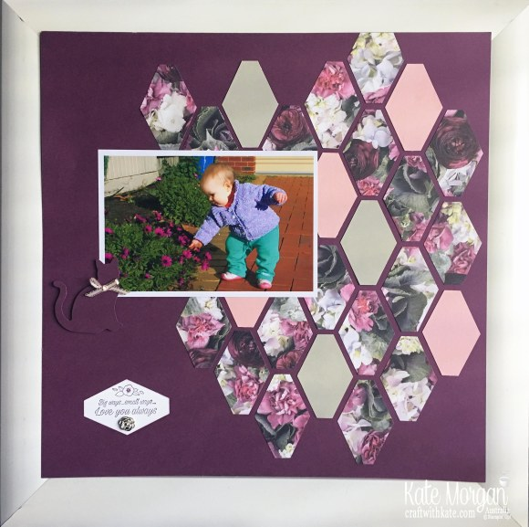 Petal Promenade DSP Scrapbook Layout, Memory Keeping by Kate Morgan, Stampin Up, Australia.JPG