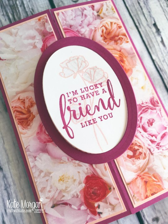 Petal Promenade DSP with Share What You Love by Kate Morgan, Stampin Up Australia.