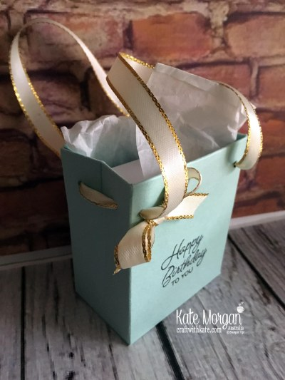 Tiffany style gift bag for 40th birthday by Kate Morgan, Independent Demonstrator Australia