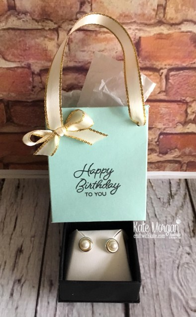 Tiffany style gift bag for 40th birthday by Kate Morgan, Independent Demonstrator, Australia
