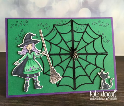 Colouring In Blog Hop with Cauldron Bubble by Kate Morgan, Stampin Up Australia