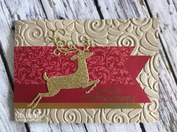 Dashing Deer Christmas card Stampin Up by Kate Morgan, Australia