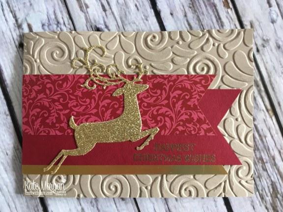 Dashing Deer Christmas card Stampin Up by Kate Morgan, Australia