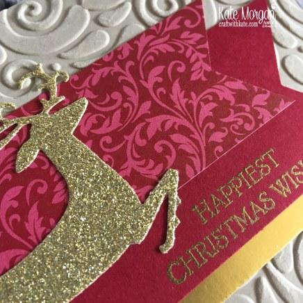 Dashing Deer Christmas card Stampin Up by Kate Morgan, Australia 2018