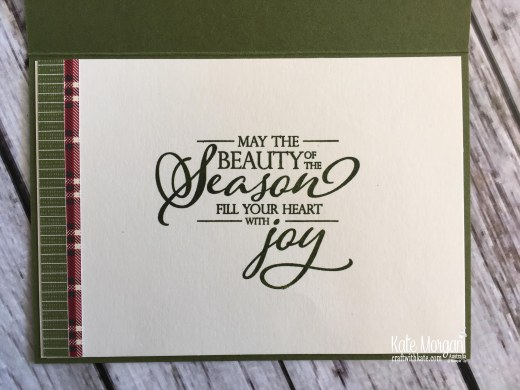 Merry Christmas to All Stampin Up Australia by Kate Morgan 2018 inside