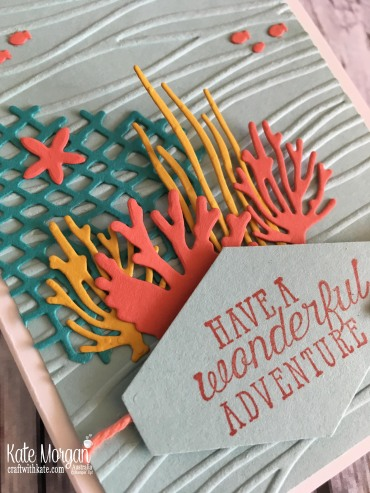 Wonderful Adventure Diaorama card using Stampin Up Sea of Textures by Kate Morgan Australia.