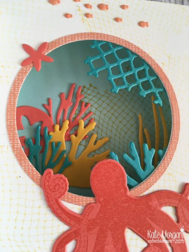 Wonderful Adventure Diaorama card using Stampin Up Sea of Textures by Kate Morgan, Australia..