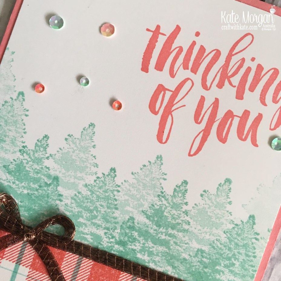 Colour Creations Blog Hop using Flirty Flamingo, Buffalo Check & Rooted in Nature by Kate Morgan, Stampin Up, Australia.JPG