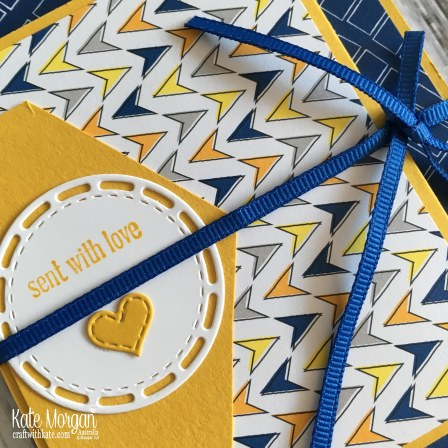 Crushed Curry Colour Creations using Stampin Up Best Route DSP by Kate Morgan Australia 2018.