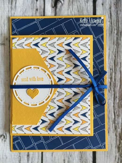 Crushed Curry Colour Creations using Stampin Up Best Route DSP by Kate Morgan Australia 2018