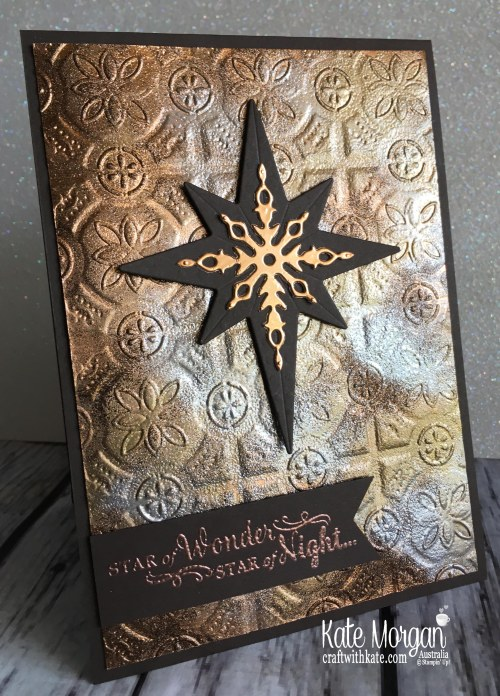 Star of Light with Stampin Ups Tin Tile TIEF by Kate Morgan, Australia 2018