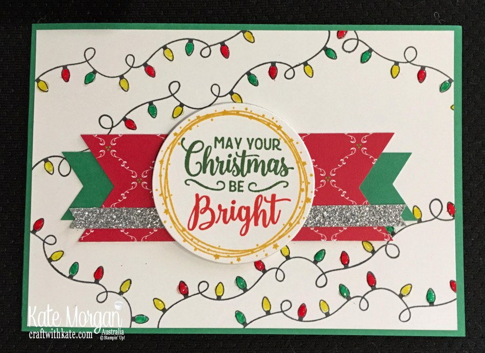 Christmas card using Stampin Ups Making Christmas Bright Bundle by Kate Morgan, Australia. Holiday catalogue 2018.JPG