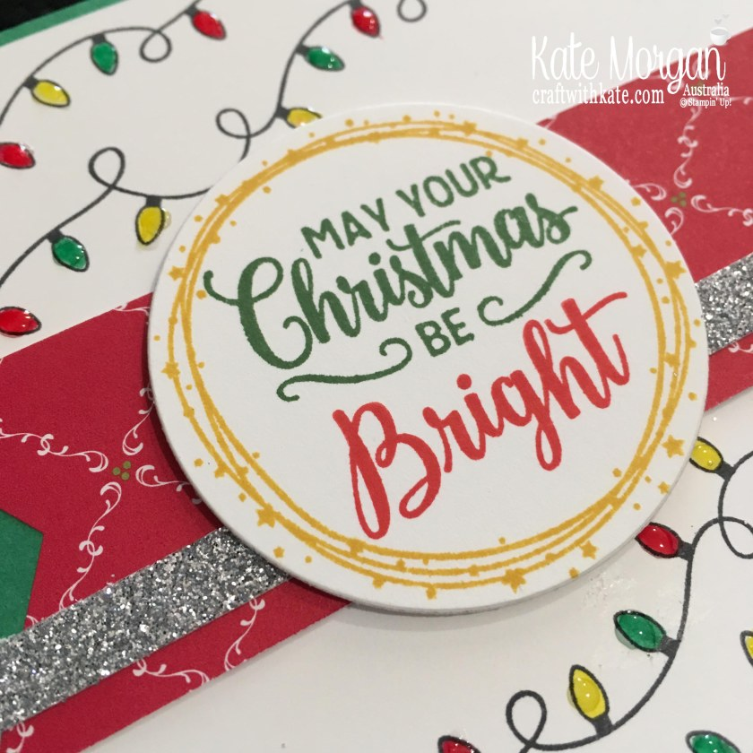 Christmas card using Stampin Ups Making Christmas Bright Bundle by Kate Morgan, Australia. Holiday catalogue 2018..JPG