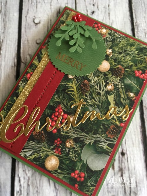 Colour Creations Blog Hop Garden Green All is Bright DSP Holiday Catalogue 2018 Stampin Up by Kate Morgan Australia f