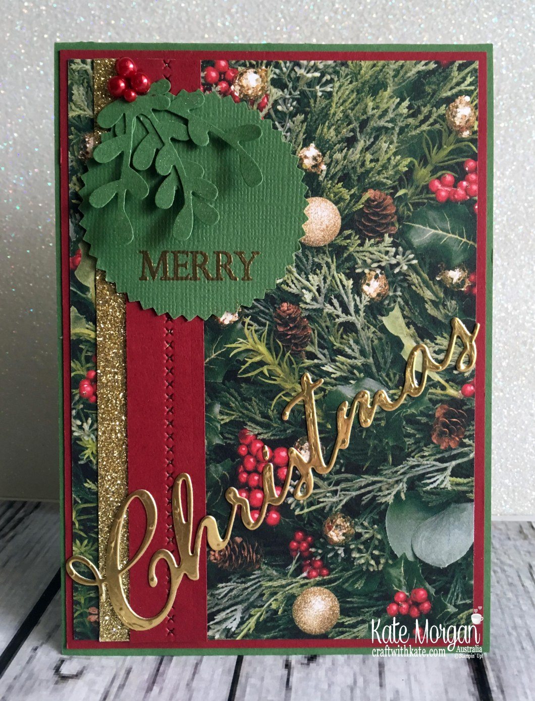 Colour Creations Blog Hop Garden Green All is Bright DSP Holiday Catalogue 2018 Stampin Up by Kate Morgan Australia.JPG