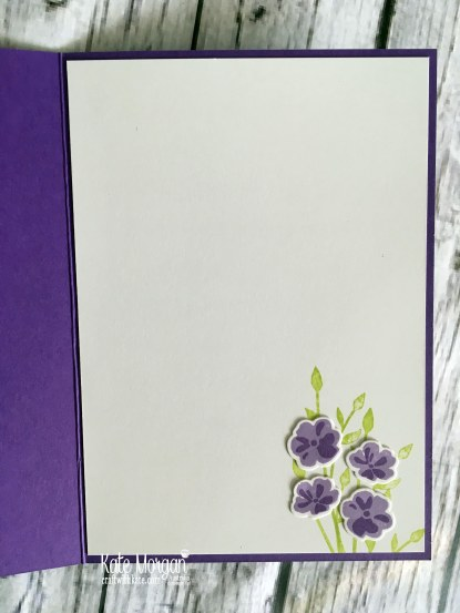 Colour Creations Blog Hop Gorgeous Grape Jar of Love Stampin Up by Kate Morgan Australia inside