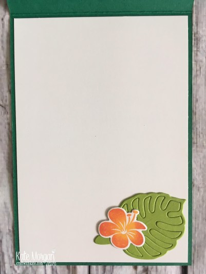 Colour Creations Blog Hop Granny Apple Green in Tropical Chic Stampin Up 2018 by Kate Morgan Australia inside