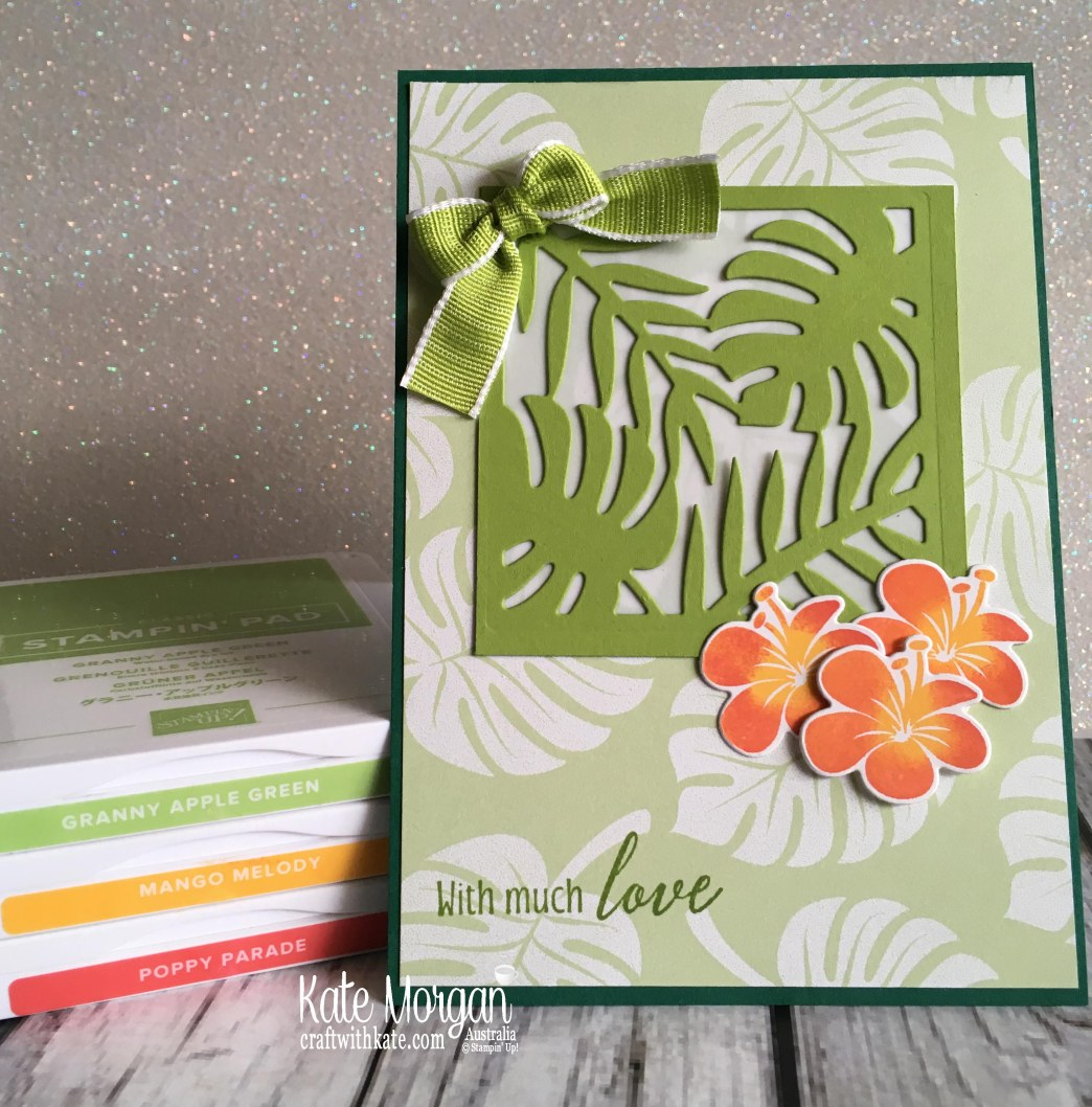 Colour Creations Blog Hop Granny Apple Green in Tropical Chic Stampin Up 2018 by Kate Morgan Australia..JPG