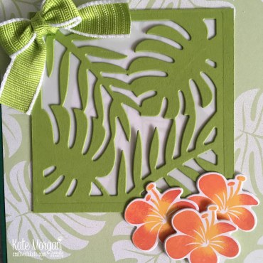 Colour Creations Blog Hop Granny Apple Green in Tropical Chic Stampin Up 2018 by Kate Morgan Australia