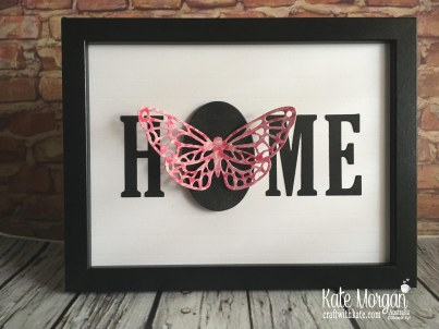 HOME frame with interchanging 'O' Butterfly using Stampin Up by Kate Morgan Australia 2018
