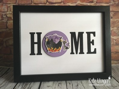 HOME frame with interchanging 'O' Halloween using Stampin Up by Kate Morgan Australia 2018
